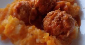 תבשיל עוף ופירה לקטנטנים שנבלע בשניות