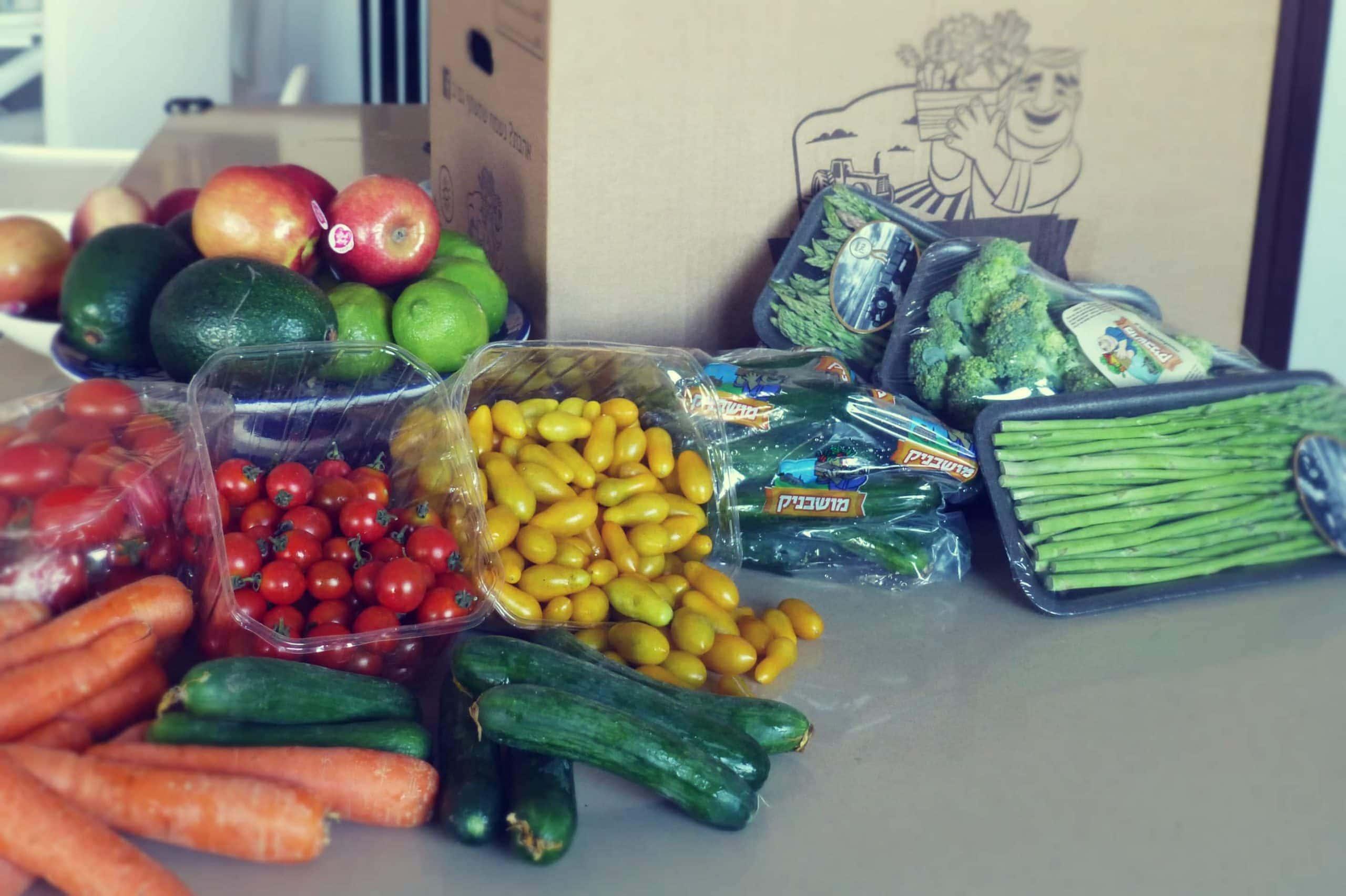 משלוח די סטנדרטי של ירקות ופירות אלינו הביתה