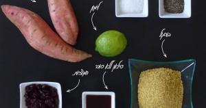 פוסט קייטנה - מתכון אורח: סלטבורגולקיצי עם בטטות צלויות וחמוציות
