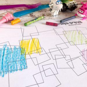 פלייסמט משחקי - צבעים בקוביות