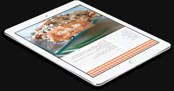 ספר מתכונים - ארוחות ערב בריאות ומהירות - ניתן לצפייה גם מהטאבלט