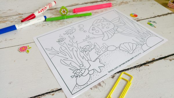 משחק לימוד ציור מתוך חוברת פעילויות לילדים - קטנטנים יוצרים בקיץ