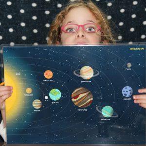 פלייסמט מערכת השמש דו-צדדי