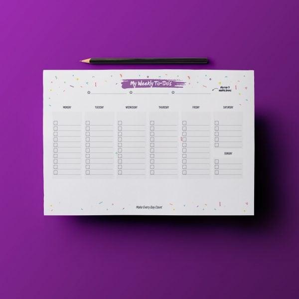My Weekly To-Do's 2020 - לוח משימות שבועי להורים - להדפסה