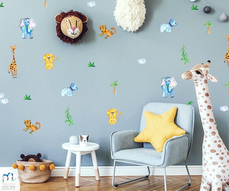 מדבקות קיר ג'ונגל לחדרי ילדים | סטודיו m creative
