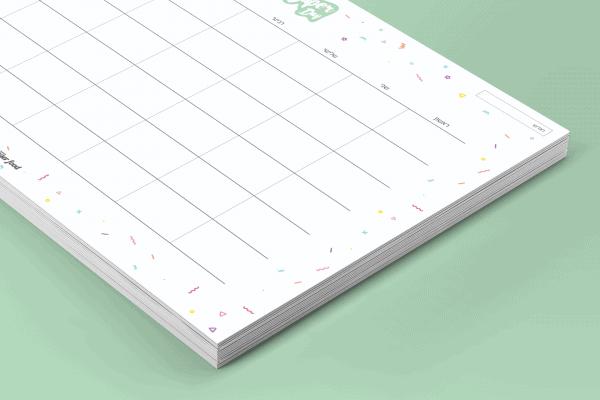 פלאנר תכנון חודשי 2021 - דגם White Confetti