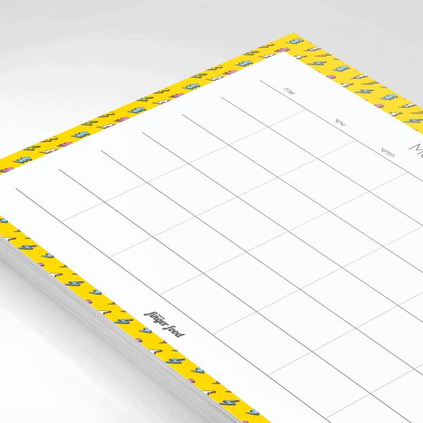 פלאנר תכנון חודשי 2021 - דגם 90s Beat