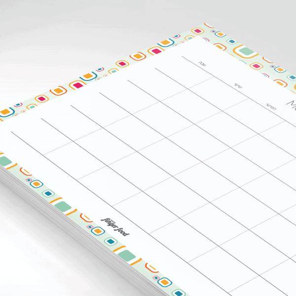 פלאנר תכנון חודשי 2021 - דגם 70s Groove