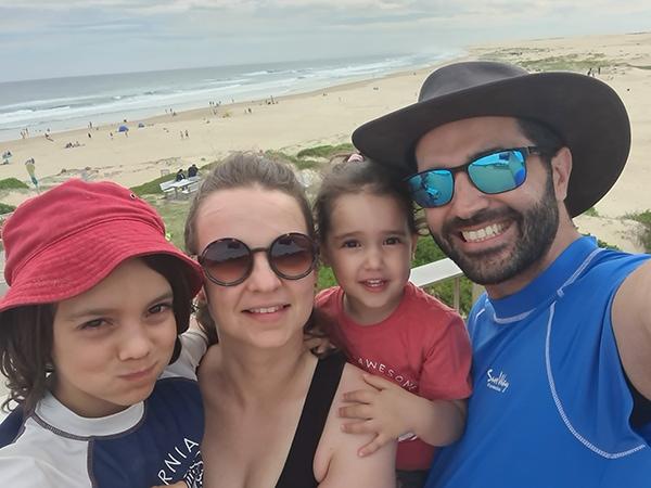 אנה והמשפחה | צילום: אנה בן שבת